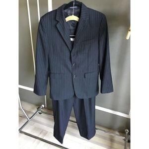 Nautica boy's black suit